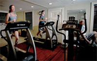Workout gym aveda spa castle hill resort ludlow vermont okemo lodging