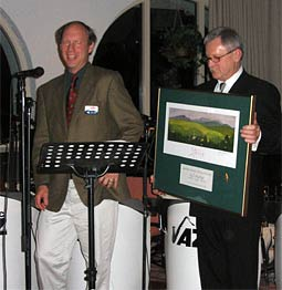 Golden Eagle Resort GM Neil Van Dyke receives honors from the Stowe Area Association