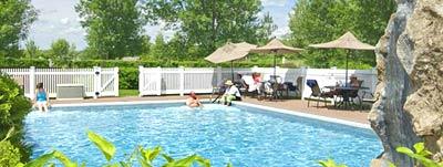 outdoor pool, waterfall, Essex Resort