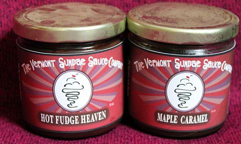 Hot Fudge Heaven sauce, Maple caramel Sauce, Vermont Sundae Sauce Company